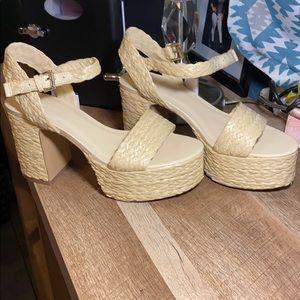 Espadrille platform heels